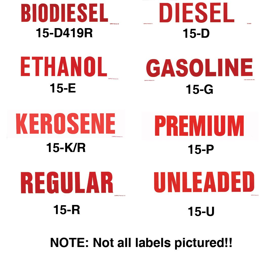 Fuel & Chemical Decals