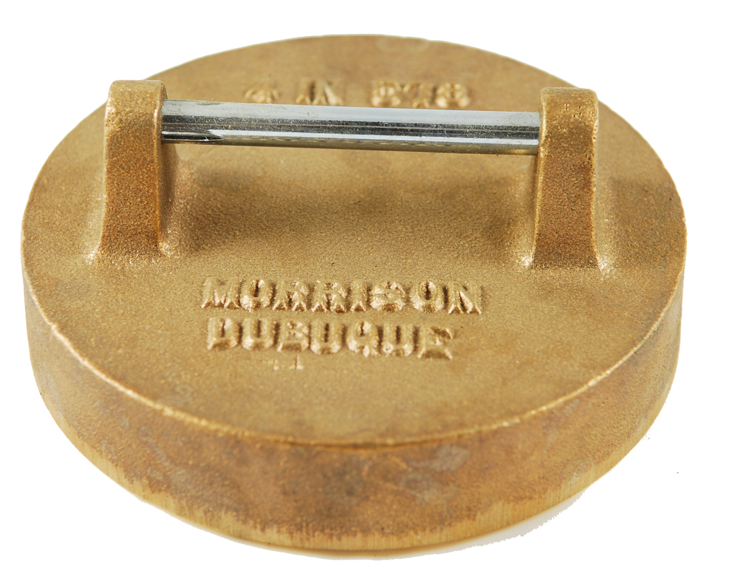 "Morrison 578 4"" Brass Extractor Pipe Cap"