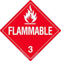 "11"" x 11"" Flammable Decal"