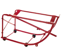 Drum cradle with axle and wheels